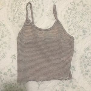 Urban Outfitters Glitter Tank Top NEVER WORN